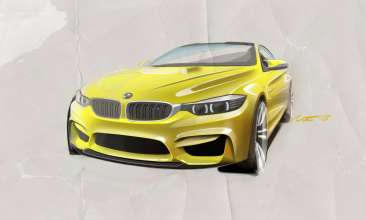 Sketch. The BMW Concept M4 Coupe. This image is copyright free for editorial use © BMW AG