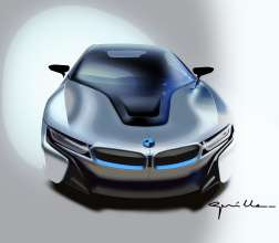 The BMW i8, Design sketch (09/2013)