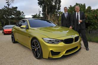 BMW M Exterior Designer Florian Nissl and Dr. Friedrich Nitschke, President BMW M Division at the BMW Concept M4 Coupe (08/2013).