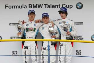 PODIUM / 3rd Kaan Önder (TK), 1st Michael Waldherr (DE), 2nd James Allen (AU) / Sunday - Grand Final of the Formula BMW Talent Cup, Oschersleben (Bode), Germany, On Track Event 6, from 13.09.-15.09.2013 - This image is copyright free for editorial use. © Copyright: BMW AG