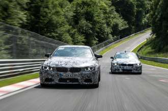 Test drives at Nuerburgring Nordschleife Spengler_Glock. © BMW AG 09/2013