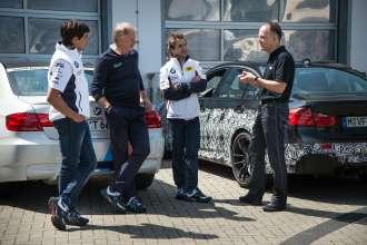 Test drives at Nuerburgring Nordschleife Spengler_Glock_Wimbeck. © BMW AG 09/2013