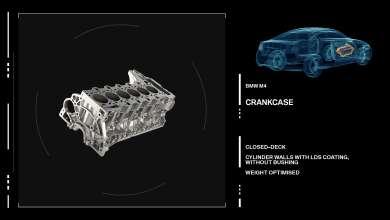 The new BMW M3/M4 Engine crankcase. (09/2013)