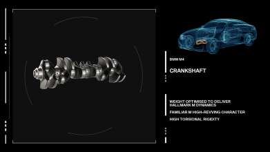 The new BMW M3/M4 Engine crankshaft. (09/2013)
