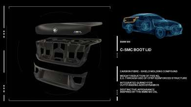 The new BMW M3/M4 Lightweight concept C-SMC Boot. (09/2013)