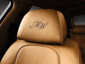 BMW Individual 7 Series Saloon/Sedan Long version (F02 LZI) – Interior: BMW Individual fine-grain Merino leather Caramel with stiched Headrest. © BMW AG (10/2013)