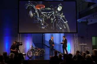 Celebrating 90 years of BMW Motorrad. Dr. Ralf Rodepeter, Head of BMW Museum. (10/2013)