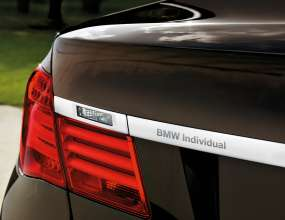 """BMW Individual"" – on the trim strip at the rear. © BMW AG (10/2013)"