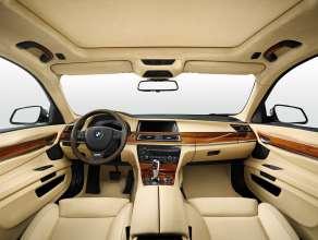 BMW Individual 7 Series Saloon/Sedan Long version (F02 LCI) – Interior: BMW Individual fine-grain Merino leather Champagne – Interior trim: BMW Individual fine-wood trim Satin Walnut Honey Brown. © BMW AG (10/2013)
