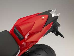BMW S 1000 R with plastic tail-hump cover. (11/2013)