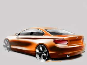 The new BMW 2 Series Coupe, Design Sketch (10/2013)