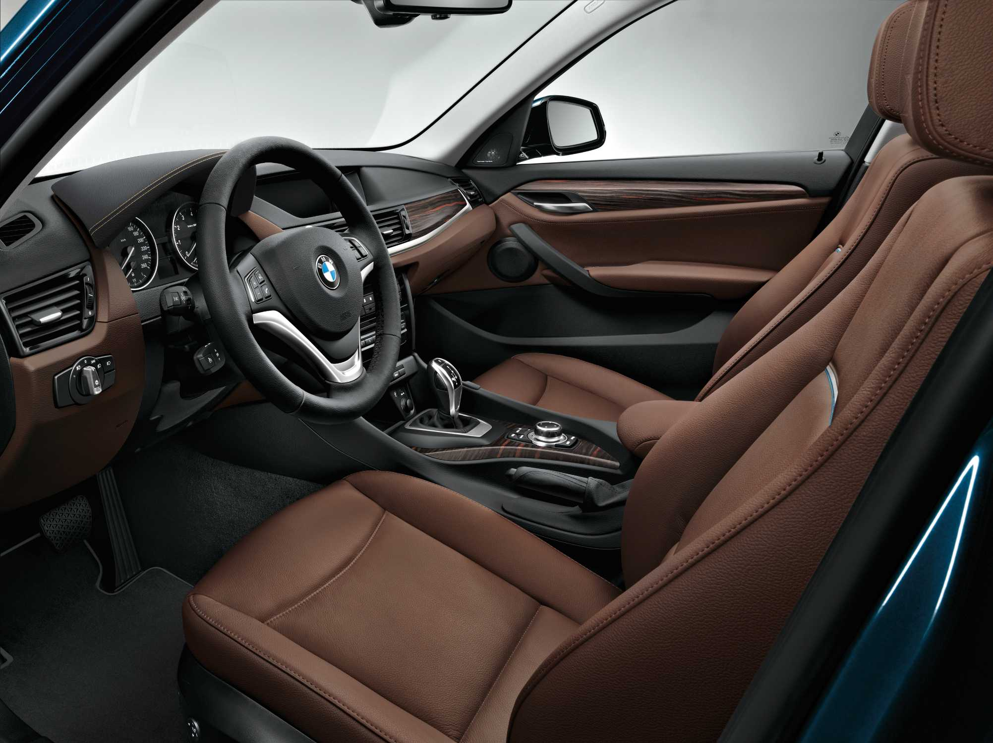 Car interior piping - Bmw X1 Xdrive28i Interior Nevada Leather Terra With Grey Petrol Piping Interior Trim Fineline Bay Matt Wood Xline 12 2013