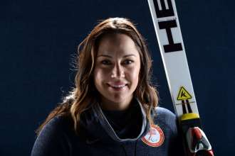 WEST HOLLYWOOD, CA - APRIL 24:  Paralympic alpine skier Alana Nichols poses for a portrait during the USOC Portrait Shoot on April 24, 2013 in West Hollywood, California.  (Photo by Harry How/Getty Images)