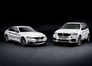 The new BMW X5 and the new BMW 4 Series Coupe with M Performance Parts (11/2013).
