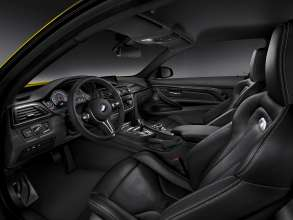 The all-new BMW M4 Coupé, Interior. Upholstery Full Leather Merino Black, Interior Trim Finishers Carbon Fibre, Highlight Trim Finishers Black Chrome. © BMW AG 12/2013