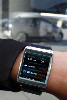 BMW i Remote App for Samsung Galaxy Gear - Vehicle status (01/2014)