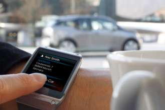 BMW i Remote App für Samsung Galaxy Gear - Send to car (01/2014)