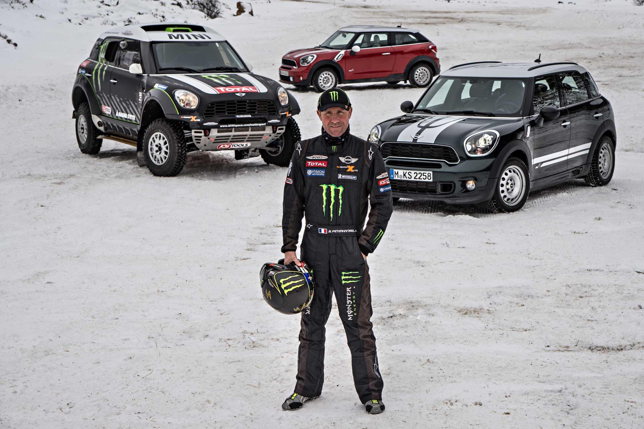 Final Rehearsal In The Snow Dakar Rally Drivers Test The Mini All4