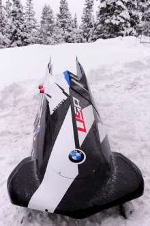 BMW's two-man bobsled at the Utah Olympic Park in Park City, UT in December 2013. (01/2014)