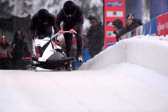 BMW's two-man bobsled undergoes testing at the Utah Olympic Park in Park City, UT in December 2013. (01/2014)