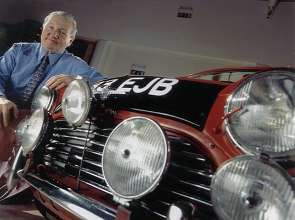 Paddy Hopkirk with Morris Mini Cooper S (01/2014)