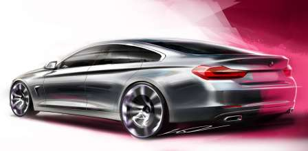 The new BMW 4 Series Gran Coupe - Drawing (02/2014)