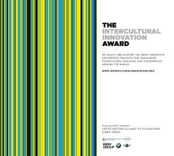 Intercultural Innovation Award 2014 (01/2014)