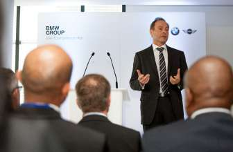 Mr Karl Probst, BMW Group Chief Information Officer, speaking at the BMW SA Competence Hub launch. (02/2014)