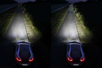 BMW i8; left: LED High Beam, right: Laser High Beam (02/2014)