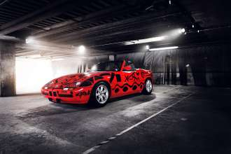 "A. R. Penck's BMW Z1 (1991) at the exhibition ""Art Drive!"", London, 2012; Photo: Tom Kurek © BMW AG