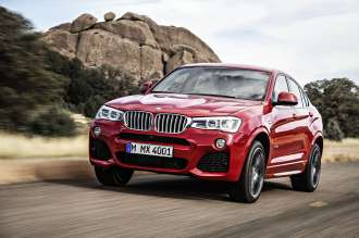 The new BMW X4 with M Sport package - Melbourne Red metallic (02/14).