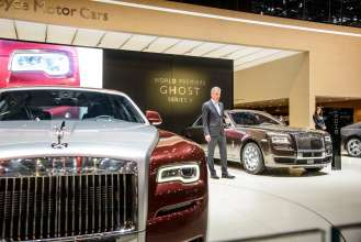 TORSTEN MÜLLER-ÖTVÖS CHIEF EXECUTIVE, ROLLS-ROYCE MOTOR CARS, UNVEILS GHOST SERIES II AT 2014 GENEVA MOTOR SHOW