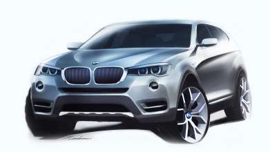 The new BMW X3. Design Sketch (03/2014).