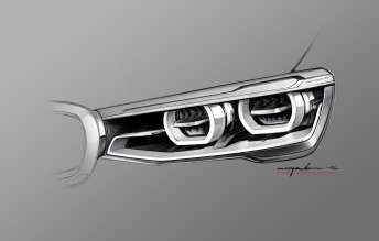 The new BMW X4. Design Sketch (03/2014).