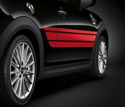 John Cooper Works Pro Side Stripes Red. (03/2014)