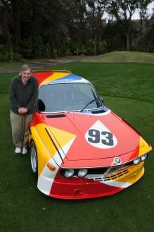 Sam Posey reunited with the Alexander Calder Art Car. (03/2014)
