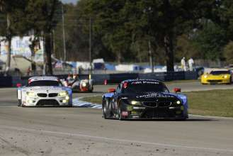 12.03.2014 to 15.03.2014, Tudor United Sportscar Championship 2014, Mobil 1 Twelve Hours of Sebring fueled by Fresh from Florida, Sebring International Speedway, Sebring, FL (USA). Bill Auberlen (USA), Andy Priaulx (GBR), Joey Hand (USA), No 55, BMW Team RLL, BMW Z4 GTE. Dirk Müller (DEU), John Edwards (USA), Dirk Werner (DEU), No 56, BMW Team RLL, BMW Z4 GTE. This image is Copyright free for editorial use © BMW AG