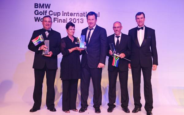 Bmw Golf Cup International World Final Successful Title Defence For Team South Africa German Youngster Voss Shoots First Albatross In Tournament History Major Winner Nick Faldo And Double Olympic Luge Champion