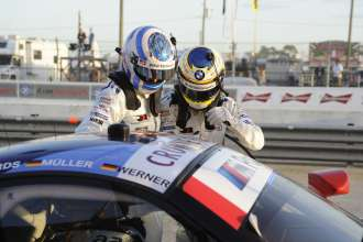 12.03.2014 to 15.03.2014, Tudor United Sportscar Championship 2014, Mobil 1 Twelve Hours of Sebring fueled by Fresh from Florida, Sebring International Speedway, Sebring, FL (USA). John Edwards (USA), Dirk Werner (DEU), No 56, BMW Team RLL, BMW Z4 GTE. This image is Copyright free for editorial use © BMW AG