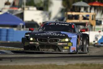 12.03.2014 to 15.03.2014, Tudor United Sportscar Championship 2014, Mobil 1 Twelve Hours of Sebring fueled by Fresh from Florida, Sebring International Speedway, Sebring, FL (USA). Bill Auberlen (USA), Andy Priaulx (GBR), Joey Hand (USA), No 55, BMW Team RLL, BMW Z4 GTE. This image is Copyright free for editorial use © BMW AG