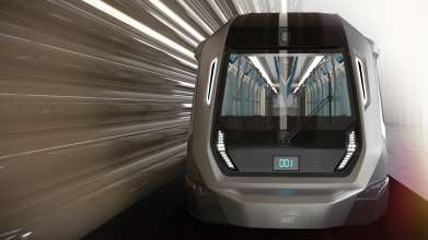 BMW Group DesignworksUSA designs new Siemens metro for Kuala Lumpur. Train head with modern light concept. (03/2014)