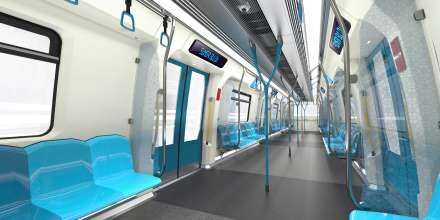 BMW Group DesignworksUSA designs new Siemens metro for Kuala Lumpur. Fresh colour concept inspired by traditional elements. (03/2014)