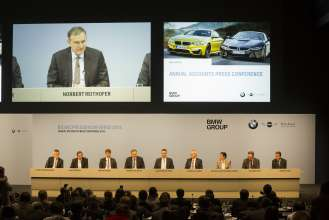 BMW Group Annual Accounts Press Conference in Munich on 19th March 2014. (03/2014)