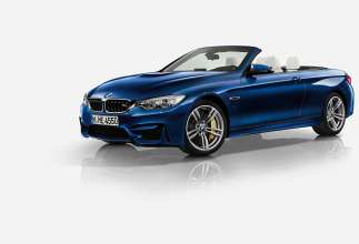 The new BMW M4 Convertible in BMW Individual Tanzanite Blue metallic with BMW Individual extended fine-grain Merino leather Opal White and BMW Individual interior trim Piano finish Black. (03/2014)