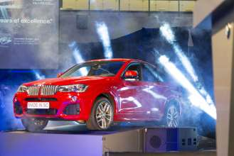 The all-new BMW X4 is revealed at BMW's Commitment in the USA ceremony in Spartanburg, SC. (03/2014)