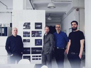Matthew Clark (UVA), Anders Warming (Head of MINI Design), Oliver Sieghart (Head of Interior Design MINI), Alexandros Tsolakis (UVA). (04/2014)