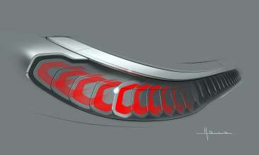 BMW Vision Future Luxury. Sketch. Detail. Exterior. Light (04/2014).