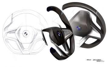 BMW Vision Future Luxury. Sketch. Detail. Interior (04/2014).