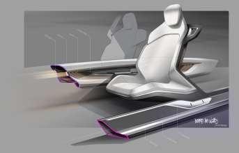 BMW Vision Future Luxury. Sketch. Detail. Interior. Carbon (04/2014).