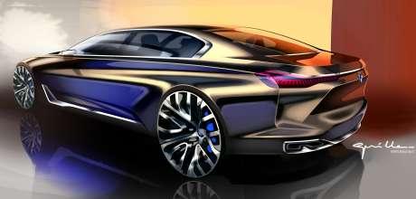 BMW Vision Future Luxury. Sketch. Exterior (04/2014).
